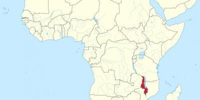 Malawi Kort Kort Malawi Ostlige Afrika Afrika